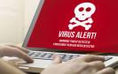 Virus-Alarm am Laptop