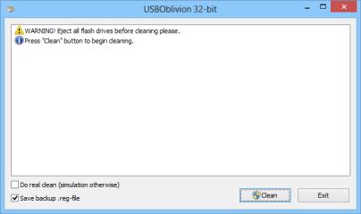USBOblivion entfernt Datenspuren, die USB-Sticks auf Windows-PCs hinterlassen.