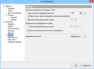 Nach dem ersten Programmstart sollten Sie zunächst mit der Tastenkombination [Strg O] die Konfiguration öffnen und parallele Downloads von Spiegel-Servern aktivieren.