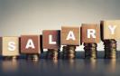 Salary steht auf Holzklötzen