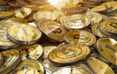 Goldene Bitcoins