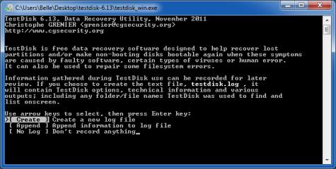 Alle Vorgänge und Ergebnisse protokolliert Testdisk auf Wunsch. Mittels der Log-Datei kann ein unerfahrener Anwender auch weiteren Rat bei Fachleuten einholen