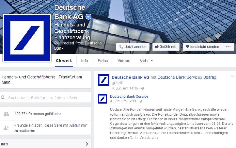 Online-Banking bei Deutscher Bank läuft wieder normal - com ... on