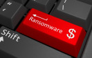 Ransomware auf Tastatur
