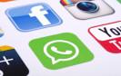 whatsapp, facebook icons
