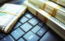Geldscheine auf Tastatur
