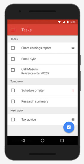 Google Exchange Tasks für Android
