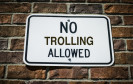 Anti-Troll-Schild