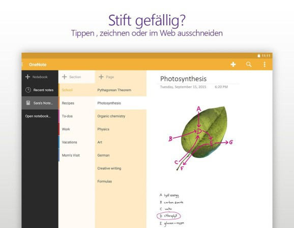 Android Microsoft OneNote