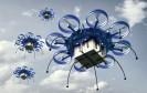 Drohnen am Himmel