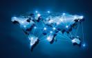 Netzwerk auf der Weltkarte