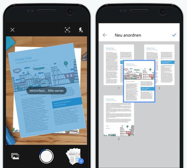 Gratis-App für Android und iOS Adobe veröffentlicht Dokumentenscanner