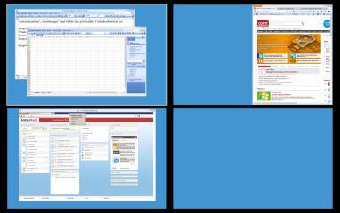 """Dexpot stellt zusätzliche Arbeitsflächen für Fenster und Icons bereit. Über die """"Vollbildvorschau"""", die Sie mit [Windows F3] erreichen, wechseln Sie zwischen diesen virtuellen Desktops."""