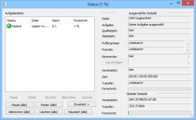 Copy Handler kopiert und verschiebt Dateien bis zu siebenmal schneller als Windows. Überaus schnell verschiebt das Tool Dateien auf andere Partitionen desselben physischen Datenträgers.
