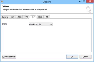 In den Optionen des FileOptimizers lässt sich für PDF-Dokumente beispielsweise die Auflösung festlegen. Für den Versand per E-Mail reichen beisielsweise 150 dpi vollkommen aus.