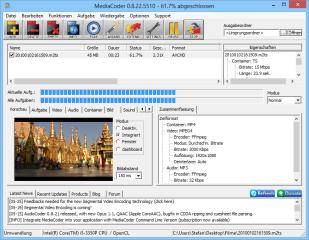MediaCoder ist vor allem zum schnellen Umrechnen und Herunterrechnen von Videos nützlich. Dabei ermöglicht der MediaCoder die schnellere, parallele Berechnung auf allen Kernen eines Mehrkernprozessors.