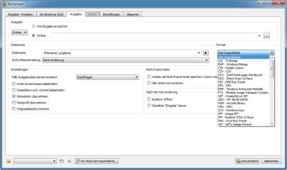 Das Tool unterstützt 75 Dateiformate. Darunter sind auch exotische Formate wie DDS oder das kaum noch unterstützte PCX.