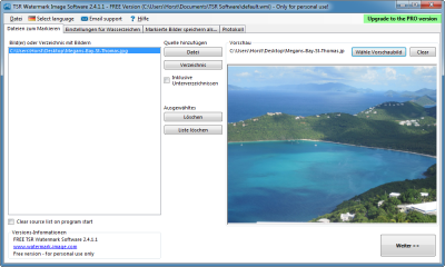 """Nach dem Programmstart aktivieren Sie den Reiter """"Dateien zum Markieren"""" und wählen Ihre Bilder aus. Am einfachsten geht das, indem Sie einzelne Bilder oder ganze Ordner mit der Maus aus dem Windows-Explorer ins Listenfeld ziehen. Als nächstes wählen Sie"""