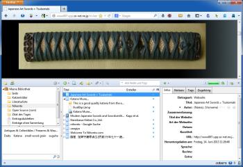 Das Add-on integriert die Zotero-Oberfläche in den Browser