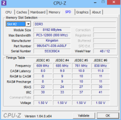 Die Registerkarten verraten auch Details über die vorhandenen Cache-Levels und die Timing-Einstellungen der einzelnen RAM-Bausteine.