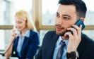Geschäftsleute beim Telefonieren