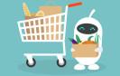 Roboter beim Einkauf
