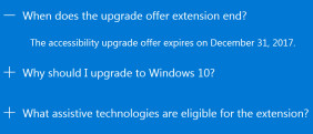 Windows 10 Upgrade-Ende