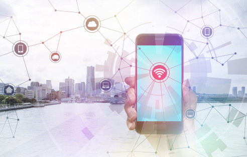 Smart-City mit Smartphone