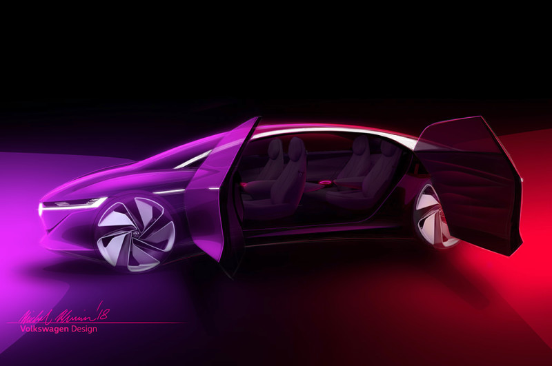 VW teasert Elektroauto-Limousine ID VIZZION