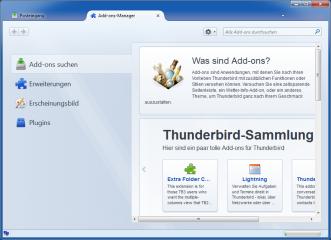 Wie Firefox verfügt Thunderbird über einen Add-on-Manager zum Suchen und Installieren von Erweiterungen
