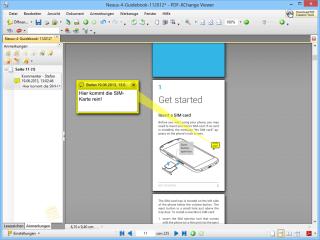 """PDF-Dokumente lassen sich mit dem PDF-Xchange Viewer auch editieren. So haben Sie beispielsweise die Möglichkeit, das PDF-Dokument über """"Werkzeuge, Anmerkungen, Kommentar"""" mit kurzen Notizen zu versehen."""