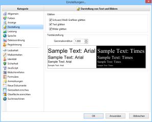 """In den """"Grundeinstellungen"""" des PDF-Xchange Viewers, die Sie mit der Tastenkombination [Strg K] erreichen, finden Sie weit mehr Optionen zum Anpassen der PDF-Darstellung als im Adobe Reader."""