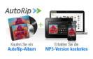 Amazon.de bietet seit heute seinen Dienst AutoRip in Deutschland an. Kunden, die eine CD, Schallplatte oder Musikkassette kaufen, bekommen die MP3-Dateien kostenlos dazu.