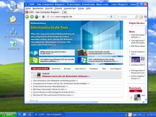 Eine Besonderheit von Tails ist, dass Sie beim Start eine XP-Tarnung auswählen können, sodass das Betriebssystem nicht mehr wie Linux aussieht, sondern wie Windows XP.