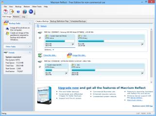 Macrium Reflect Free sichert ganze Festplatten oder einzelne Partitionen als Image-Datei auf Festplatte, DVD oder im Netzwerk. Das Tool erstellt zudem bootfähige Rettungsmedien zur Wiederherstellung der Daten.