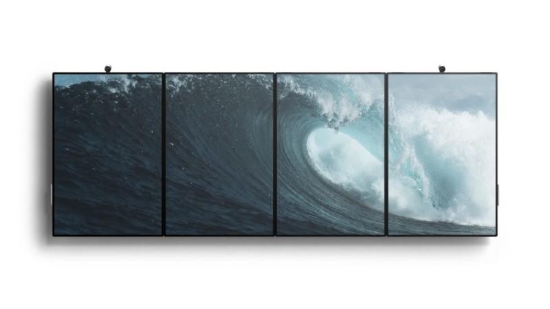 Surface Hub 2- 4 Geräte an der Wand