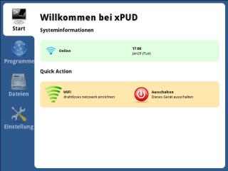 Xpud ist eine minimalistische Linux-Distribution mit recht ansprechender Bedienerführung. Gedacht ist das System als sichere Surfstation, die man unabhängig vom installierten Betriebssystem nutzen kann und die keine Rückstände hinterlässt.