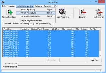 lautstärke normalisieren mp3
