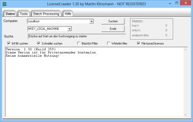 LicenseCrawler durchsucht Ihren PC nach den Seriennummern installierter Software-Pakate und speichert Sie diese auf Wunsch in einer Textdatei.