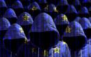 Hacker und Europaflagge